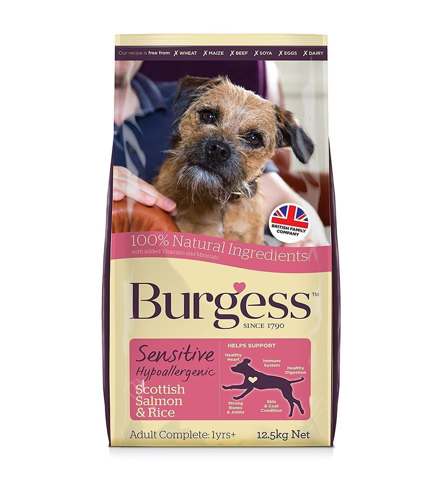 Burgess Sensitive Hypoallergenic Dog Food Scottish Salmon And Rice