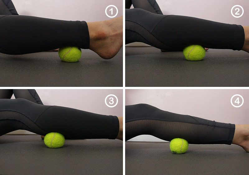 9 Easy Ways To Use A Tennis Ball To Release Muscle Knots Muscle Knots Therapy Ball Massage Ball Exercises