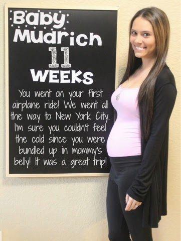 Laura & Co : Week 11 Pregnancy Chalkboard Weekly Tracker