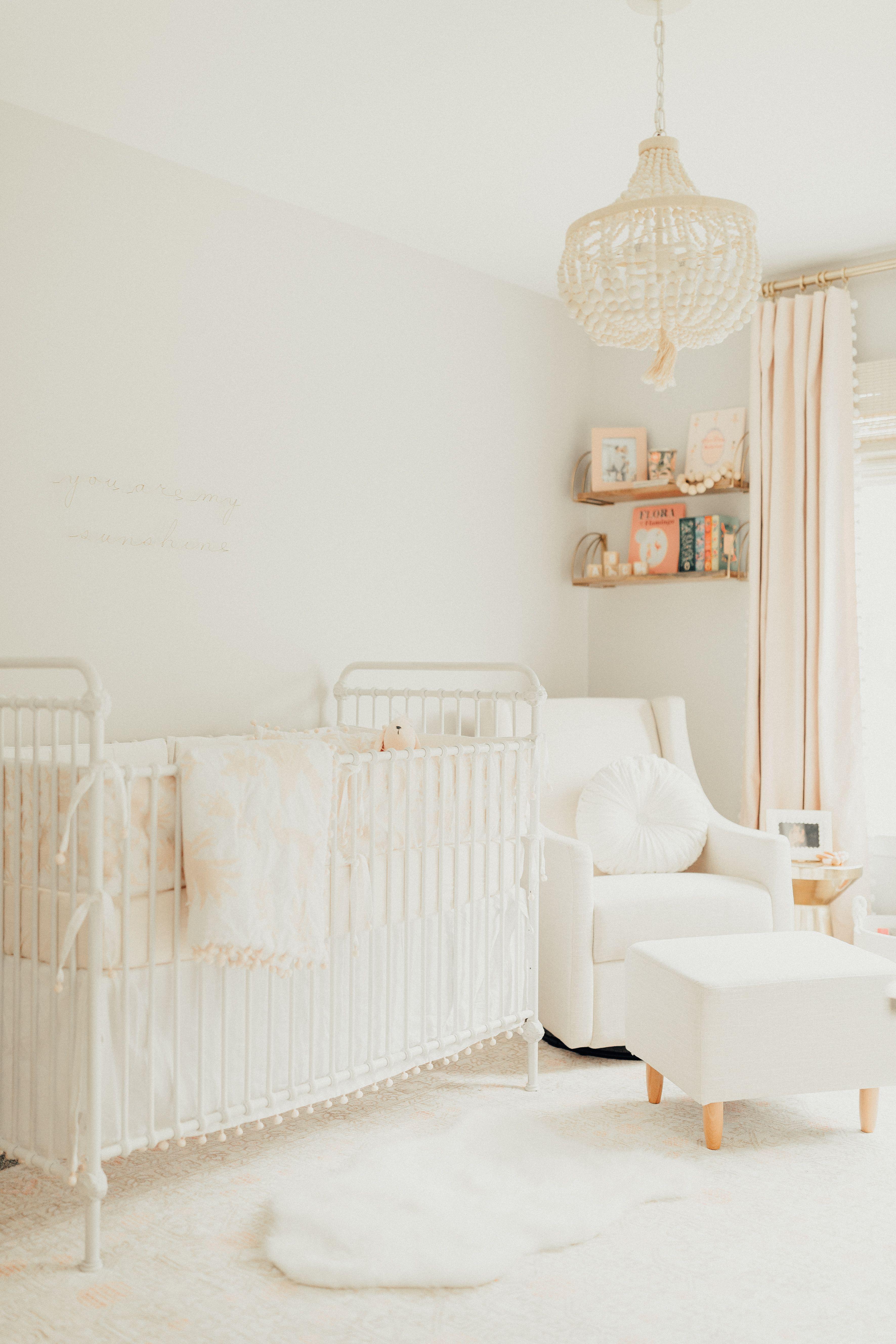 Sweet Pale Pink And Neutral Nursery Baby Girl Nursery Purple