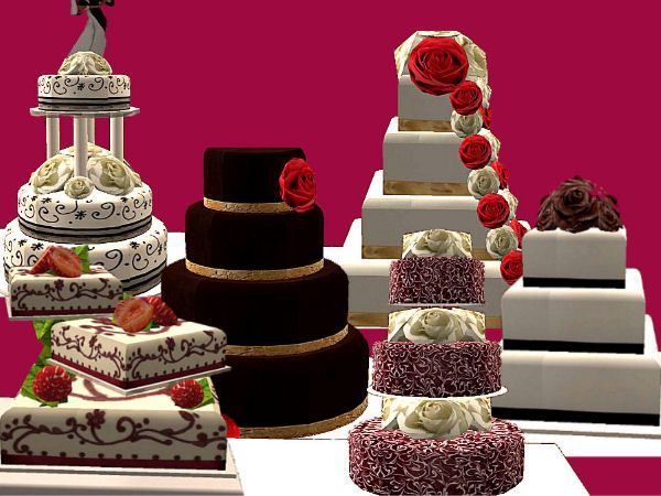 Even More Custom Functional Wedding Cakes Sims Sims 4 Dresses