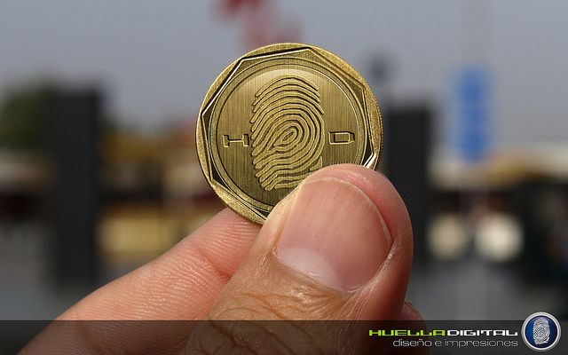 HUELLA DIGITAL - moneda