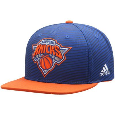 04bf5eeec5a56 New York Knicks adidas Energy Stripe Snapback Adjustable Hat - Blue Orange