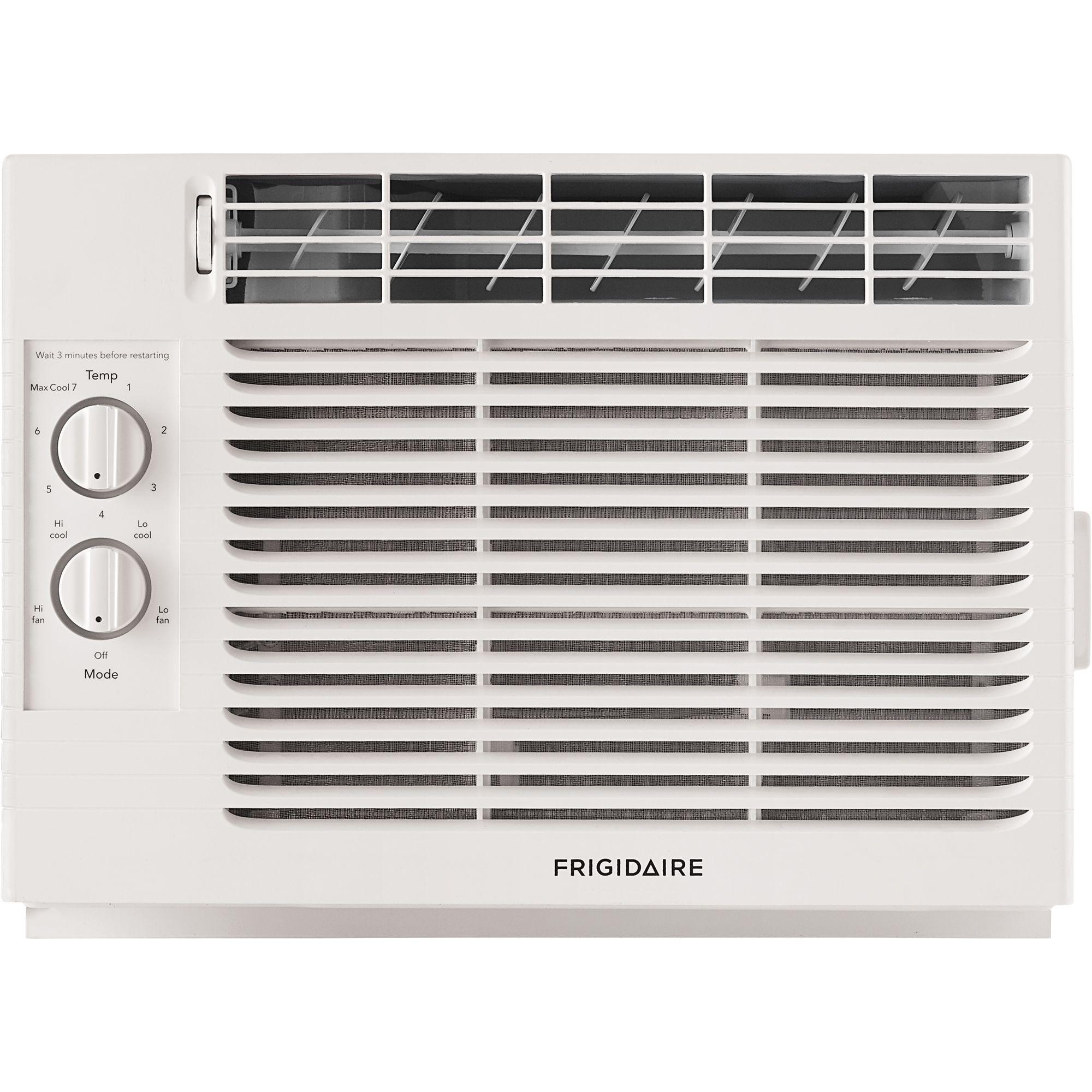 Frigidaire Company Ffra051za1 5 000 Btu Window Mounted Room Air Conditioner White Room Air Conditioner Window Air Conditioner Air Conditioner