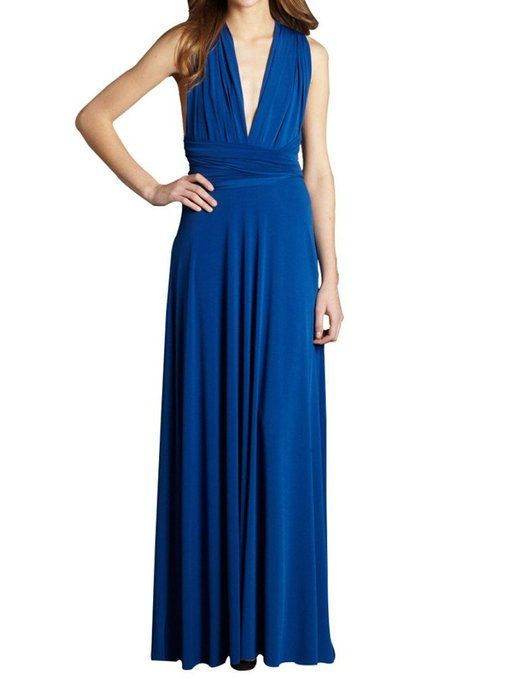 Vonvonni Womens Transformer Dress Long One Size Fits All Kelly