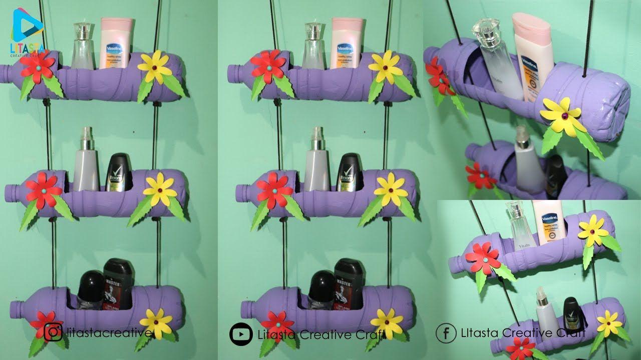 Ide Kreatif Membuat Tempat Make Up Dari Botol Bekas Diy Room
