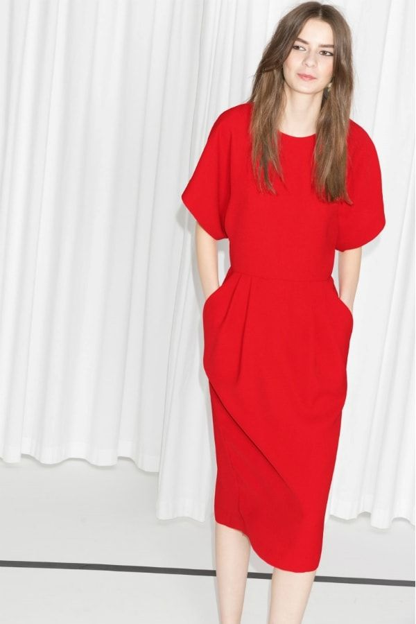 156854b99a0 Robe midi rouge de   Other Stories
