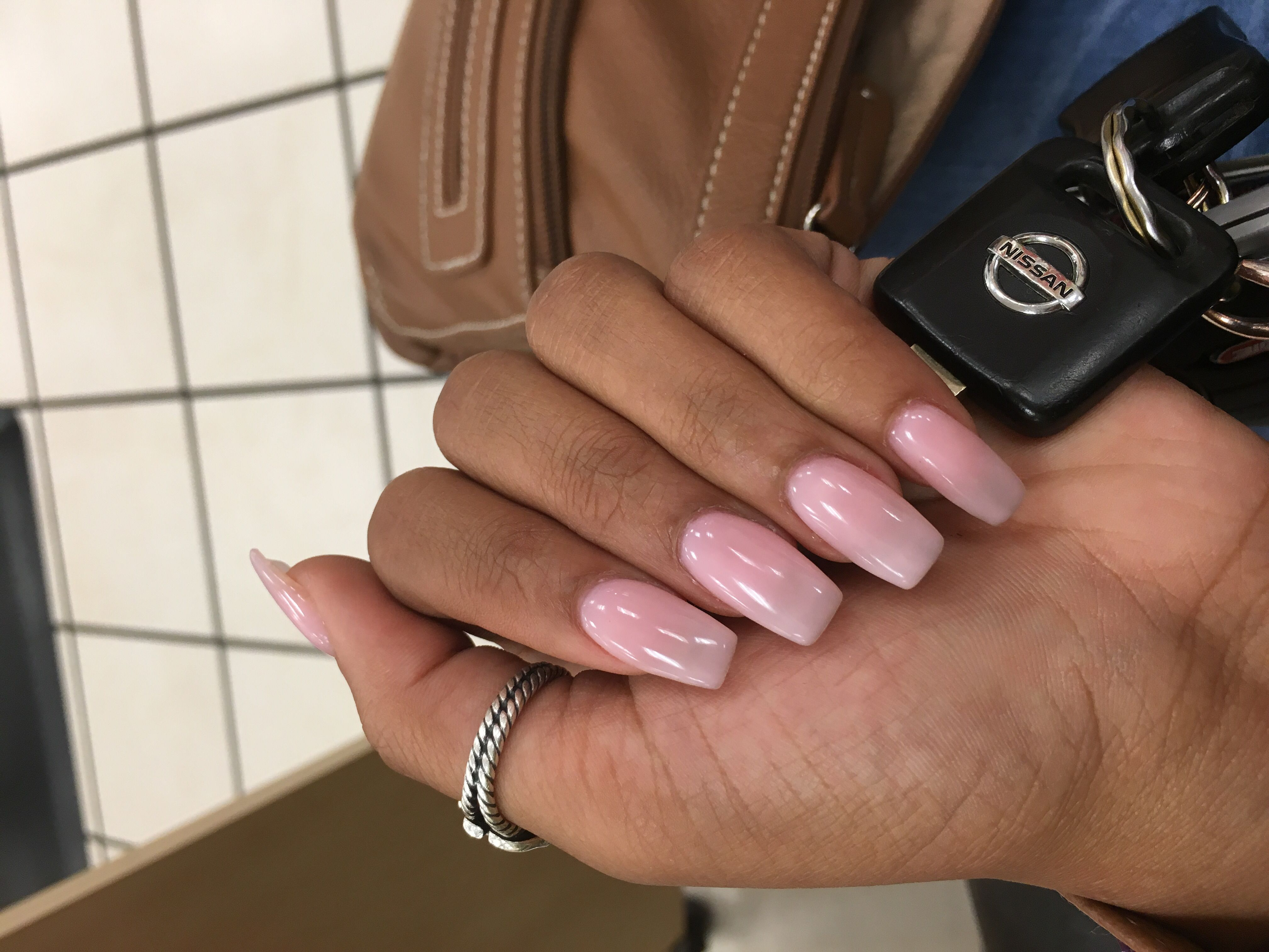 Nunu Nails Coffin Shaped Color Called Bubble Bath By Opi Gel Nails Shape Gel Nail Colors Gel Nails French