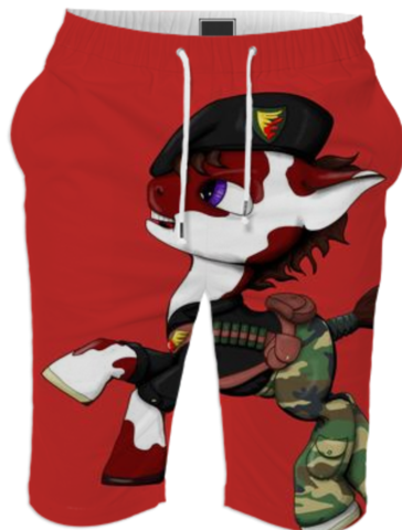 G.I. Pony Shorts created by JolieBonnetteArt | Print All Over Me