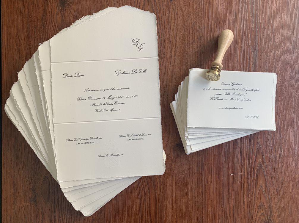 Partecipazioni In Carta Amalfi Partecipazioni Nozze Nozze Matrimonio Carta