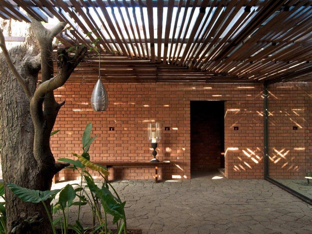 Small Brick House Plans   Exterior Ideas At Brick Kiln House Design In  Small Village Munavali