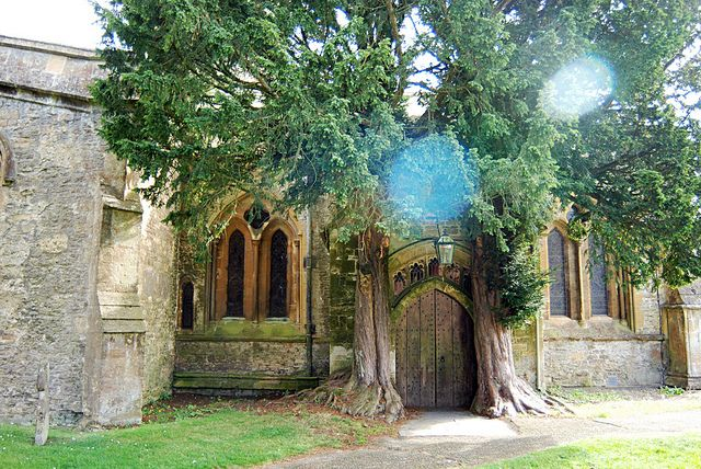 A church door said to influence Tolkien's Gates of Moria in The Cotswolds, England. photo by -leethal-