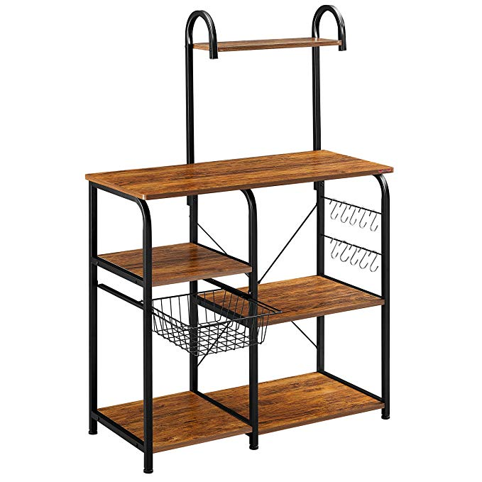 4-Tier Microwave Stand Oven Baker Rack Shelves Kitchen Cart Storage Workstation