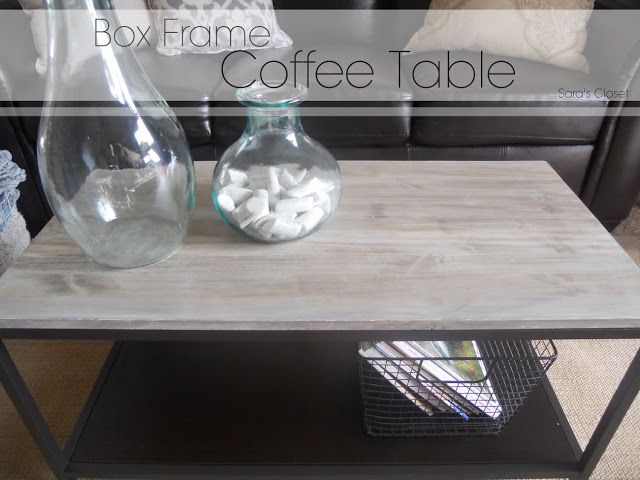 great diy box frame coffee table i just might have to do this