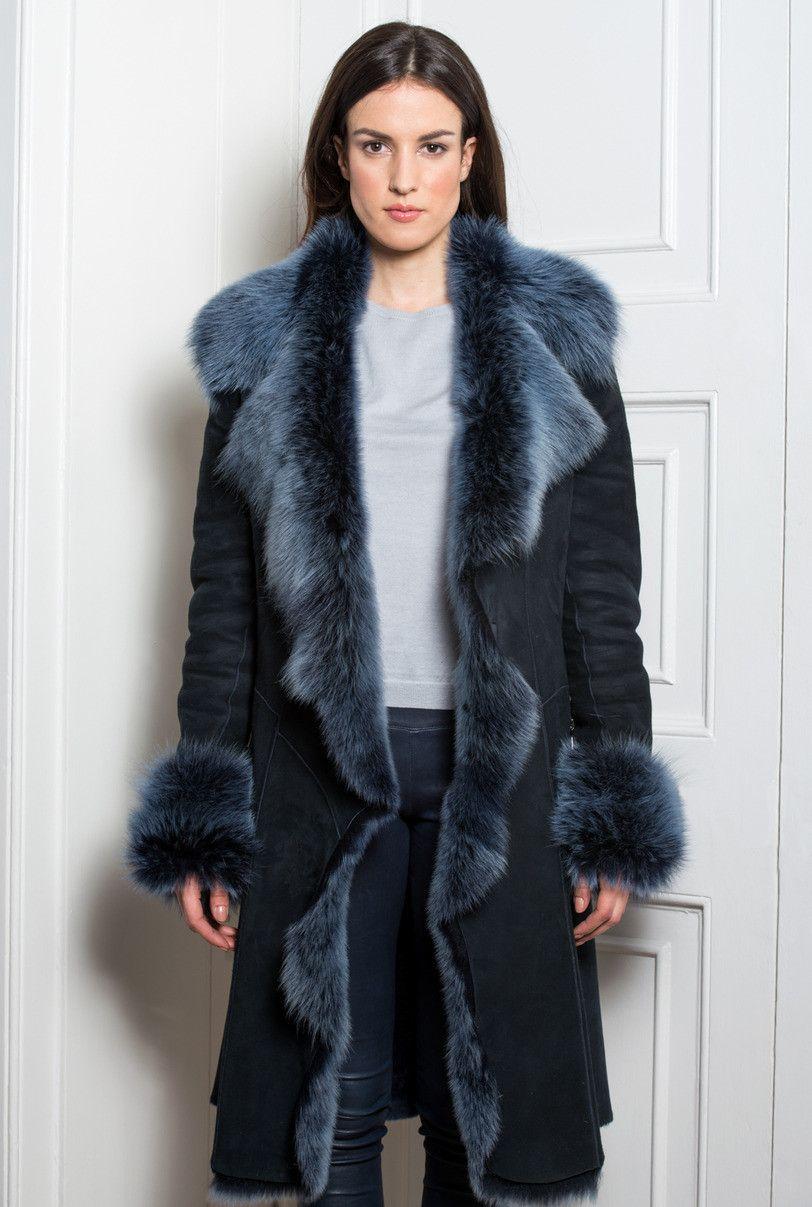 1c Long Toscana Womens Shearling Coat Shearling Coat Stylish Outerwear Coat [ 1207 x 812 Pixel ]