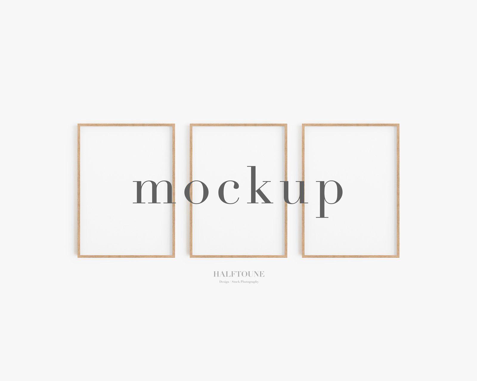 Frame Mockupset Of 3 Mockup3 Frames Mockupmockup Etsy In 2021 Frame Mockups Frame Set Print Sets