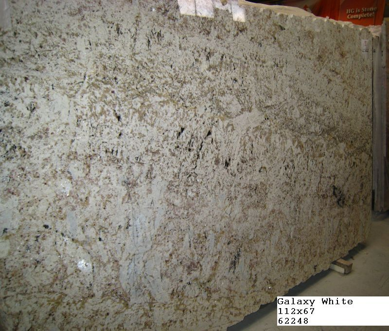 White Galaxy Granite Kitchen: Cabinets And Countertops