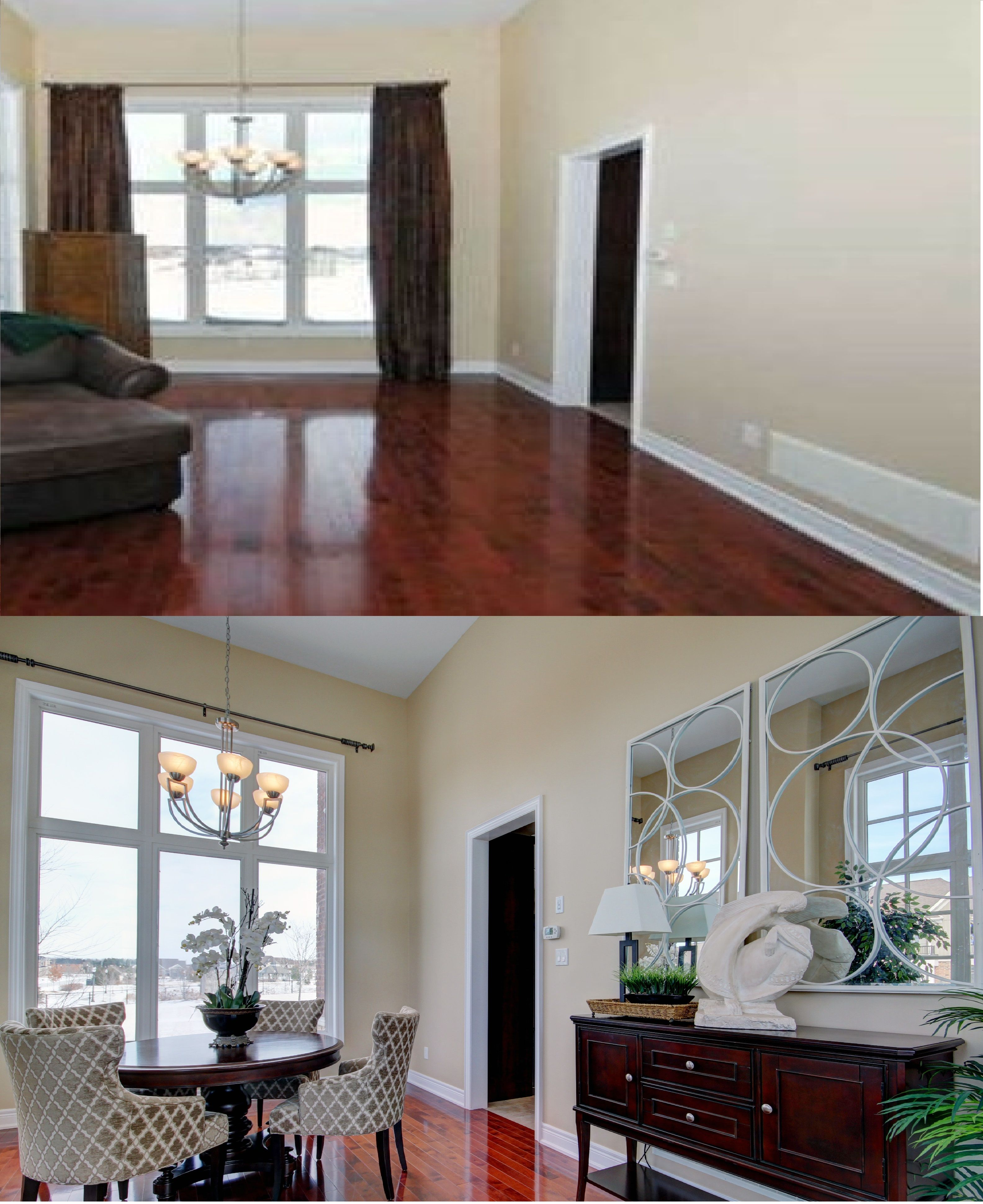 Home Staging Dining Room Table: Dining Room Before After Home Staging