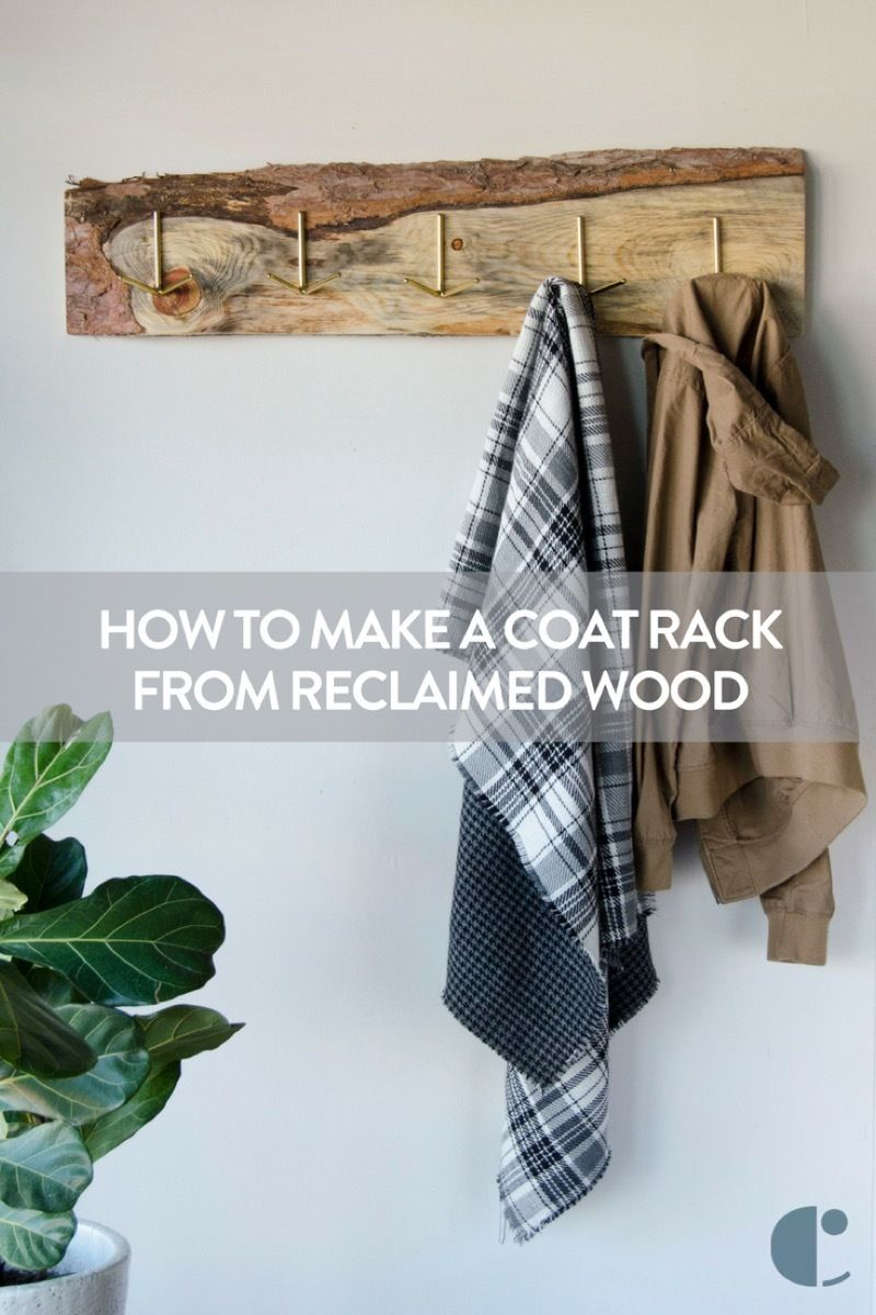 How to transform found wood into a gorgeous, rustic wall-mounted coat rack using simple tools.  #sponsored @homedepot
