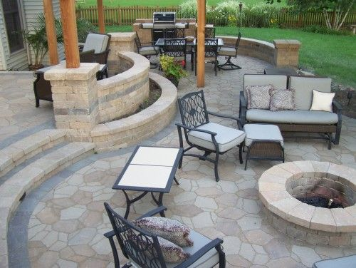 Beautiful Stone Patio
