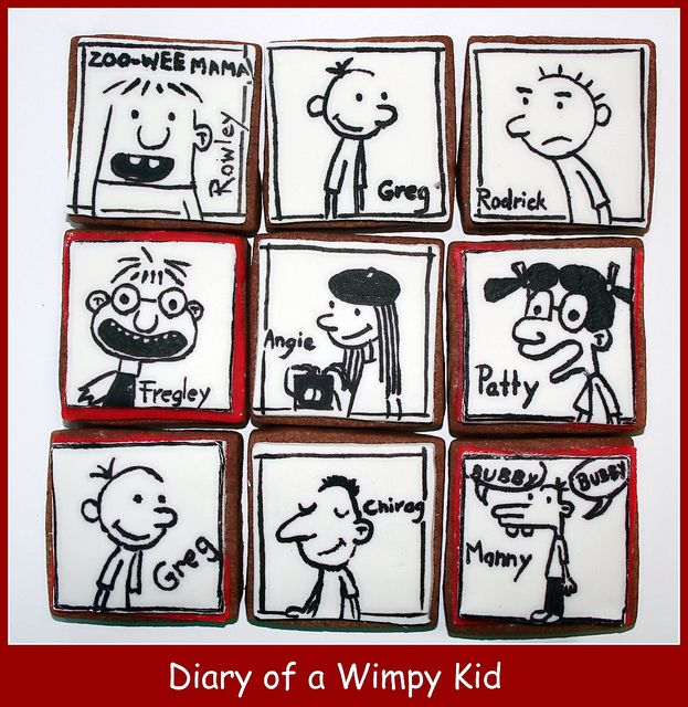 Diary Of A Wimpy Kid Cookies Wimpy Kid Wimpy Kid Books Cookies For Kids