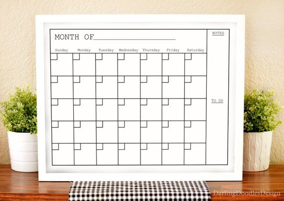Modern Wall Calendar Black And White Calendar Monthly Calendar