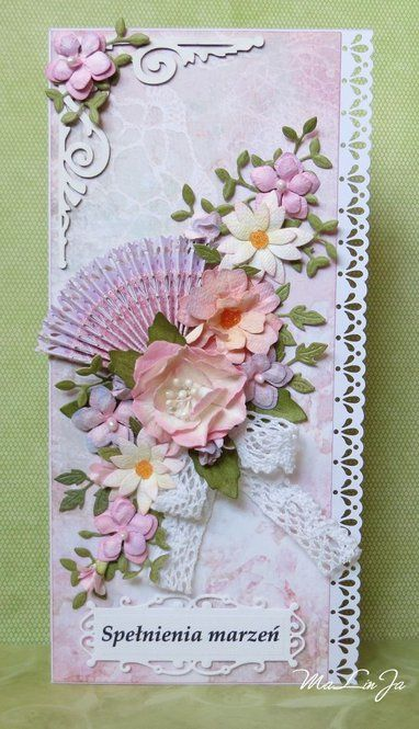MaLinJa's Gallery: A card with fun and flowers