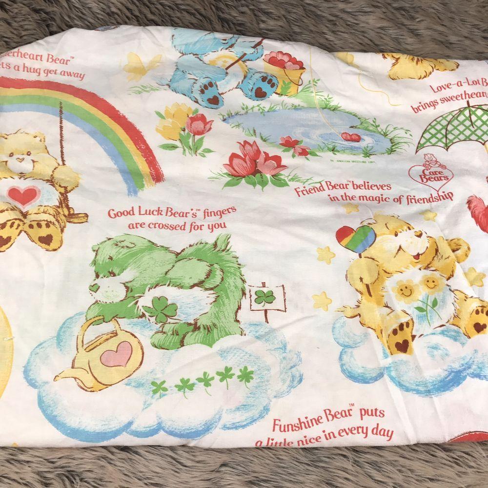 kids bedsheet; room decor; nostalgia; childhood memories; I have to have it Vintage 1980/'s Cabbage Patch Twin Size Bedsheet Flat