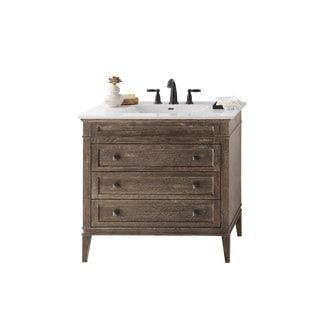Ronbow Laurel 36 Inch Bathroom Vanity Set In Vintage Cafe With Ceramic Sink Top