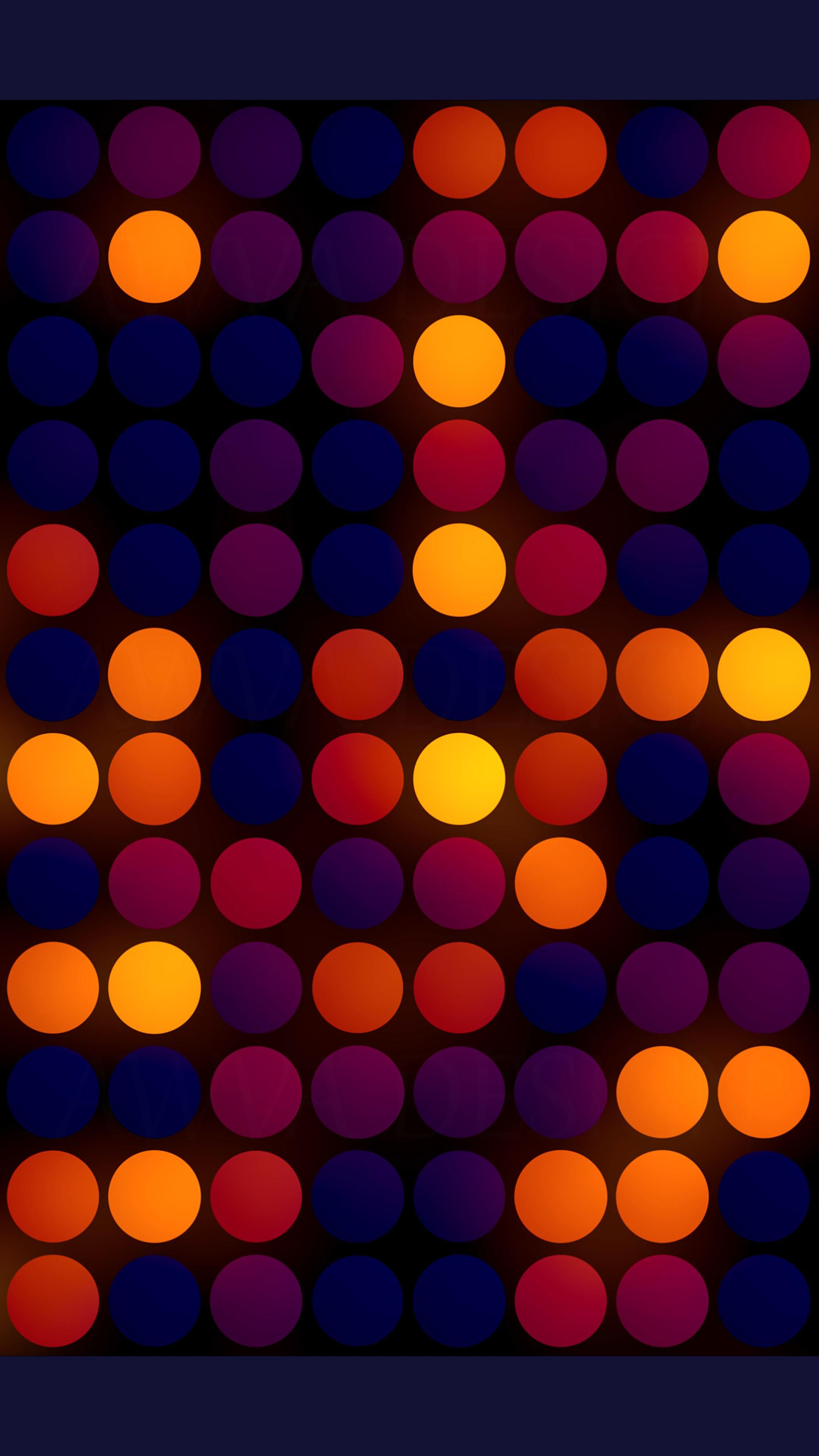 Christmas background with bright red-yellow circles at random order.