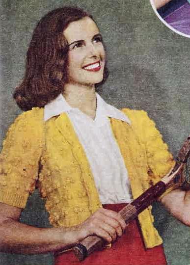 The Vintage Pattern Files 1940s Knitting Snappy Sports Jacket