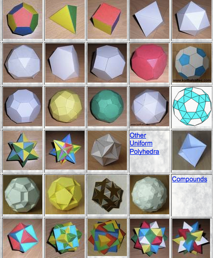 Paper Polyhedron Model Templates Lofty Goals Of