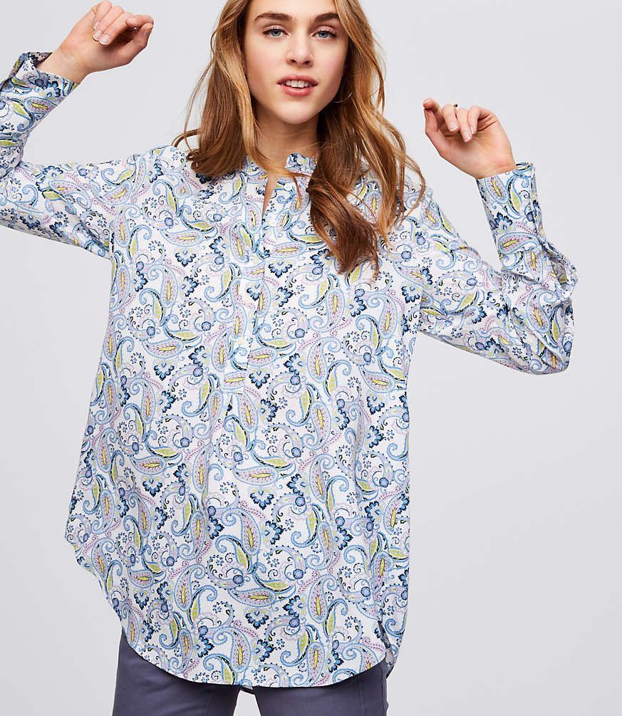 066eedd737d Shop LOFT for stylish women's clothing. You'll love our irresistible Petite  Paisley Henley Tunic - shop LOFT.com today!