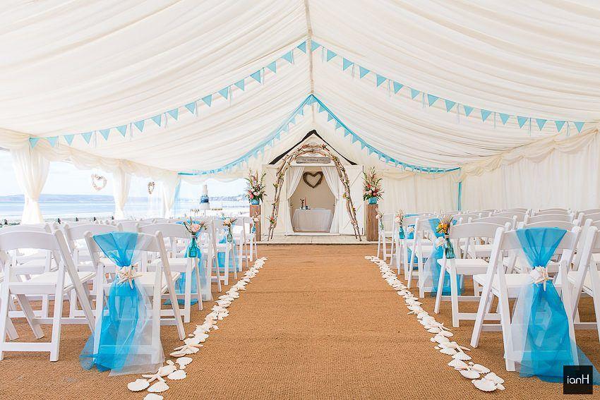 Marquee At Beach Weddings Bournemouth Wedding Ideas Pinterest