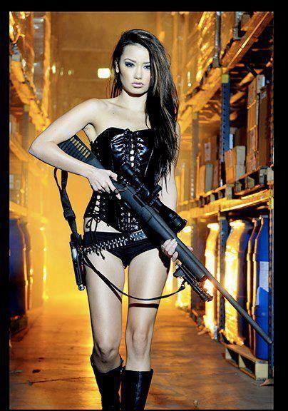 Consider, that asian girls with guns