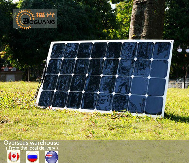 Solarparts 1 Unids 100 W Font B Panel B Font Font B Solar B Font Flexible 12 V De Celulas Solares Sunpower Modulo Kit Cargador De B Rv Led Charger