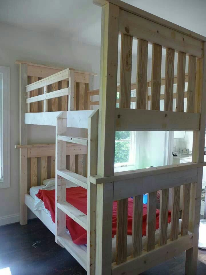 Hand Made Bunk Beds Diy Bunk Bed Bunk Beds Built In