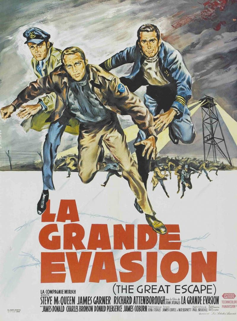 Affiche Du Film La Grande Evasion Recherche Google Film Films Complets Charles Bronson