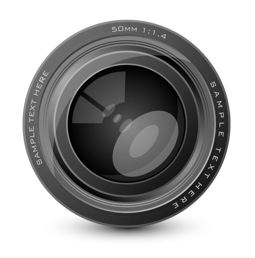 カメラレンズのクリップアート camera lens vector イラスト素材5
