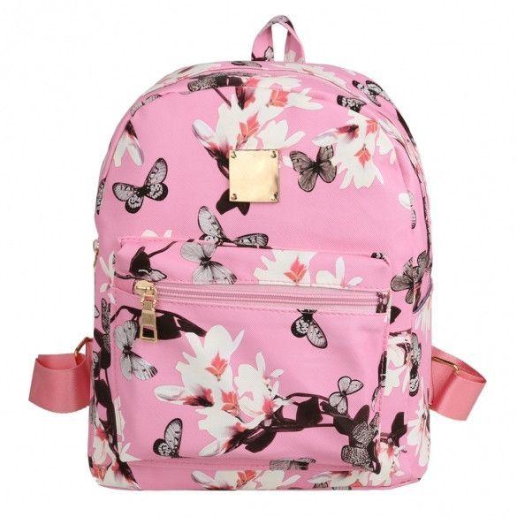 701580e359 Fashion Floral Printing Women Leather Backpack School Bags for Teenage  Girls Lady Travel Small Backpacks Mochila Feminina  fashion…