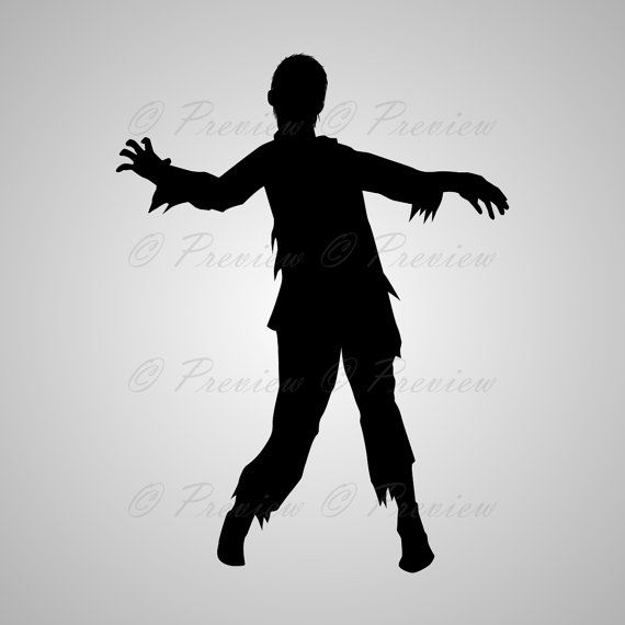 Buy 2 Get 1 Free Digital Clipart Zombie Silhouettes Walking Etsy Digital Clip Art Zombie Silhouette Clip Art