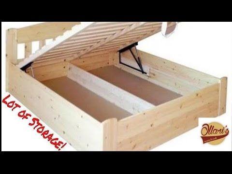 DIY Massivholz Bett Selber Bauen   YouTube