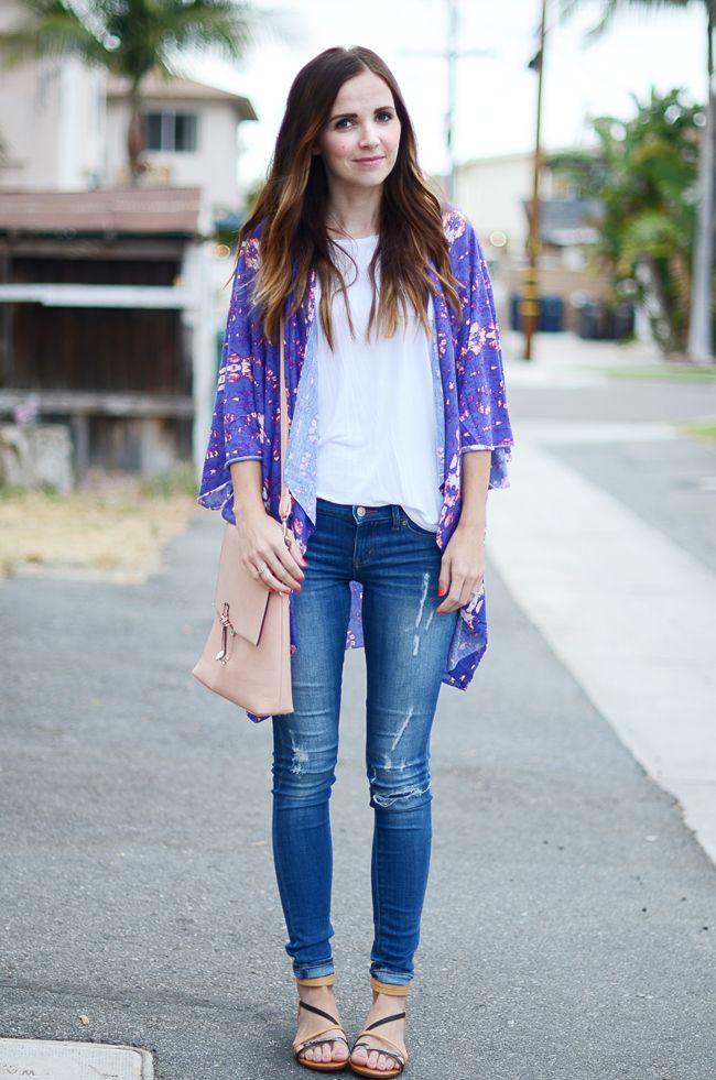 How to Style a Kimono Cardigan | Kimonos, Tee shirt and Fabrics
