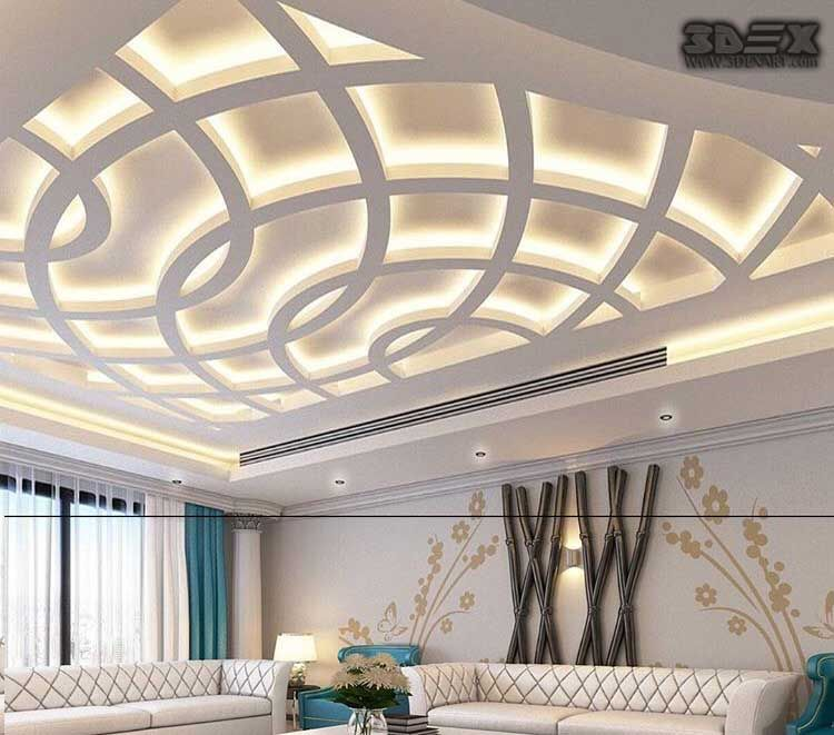 Latest False Ceiling Designs For Living Room Modern Pop Design For Hall 2018 Jpg 750 661 Pi Pop False Ceiling Design False Ceiling Design Ceiling Design Modern