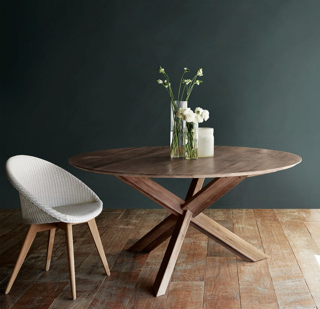 Teak Round Dining Table | Sits 6 To 8