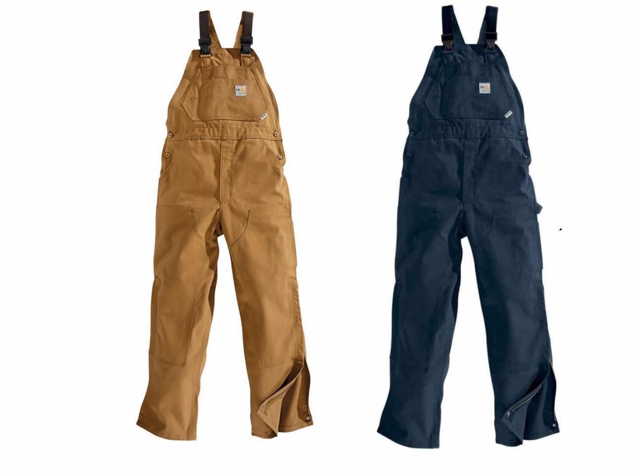 73c536d1e0ef Coveralls and Jumpsuits 178962  New Carhartt Flame Resistant Safety Work Bib  Overalls Unlined Canvas M L Xl 2Xl -  BUY IT NOW ONLY   89.1 on  eBay ...