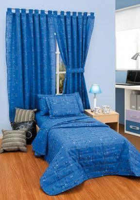 Conjunto de cortinas y cubrecama para decorar for Cortinas para dormitorios de ninos