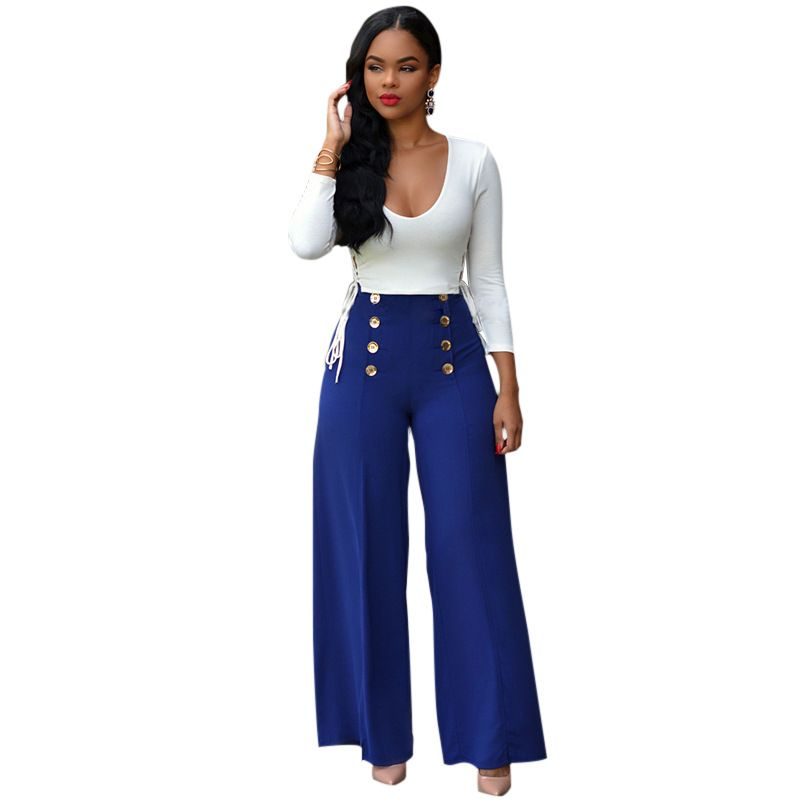 Women Two Piece Outfits 2017 New Fashion Elegant Jumpsuit Long Sleeve Rompers  Womens Jumpsuit 2 Piece Combinaison Femme
