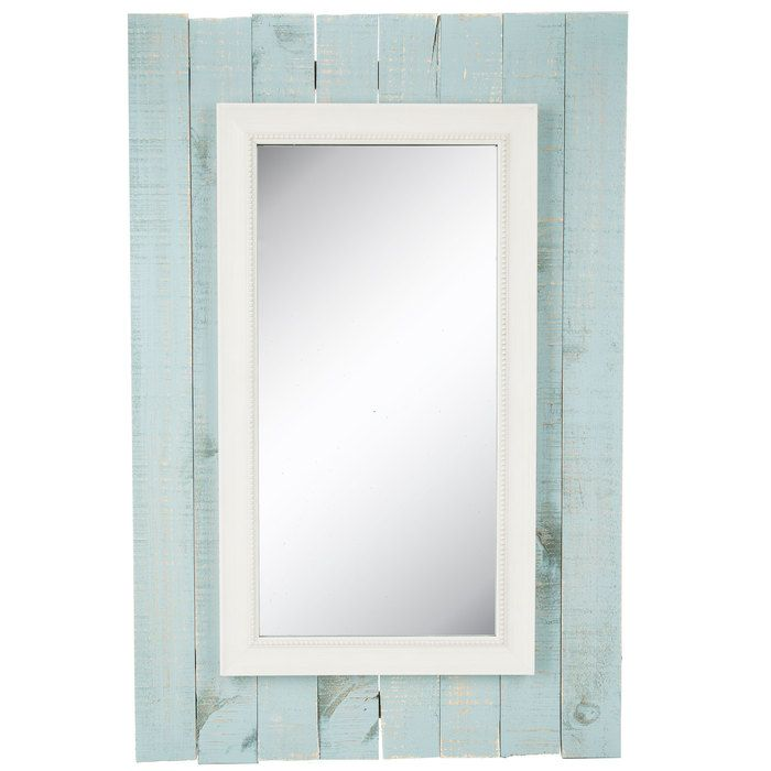 Blue Wood Pallet Framed Wall Mirror Framed Mirror Wall Pallet Frames Mirror Wall
