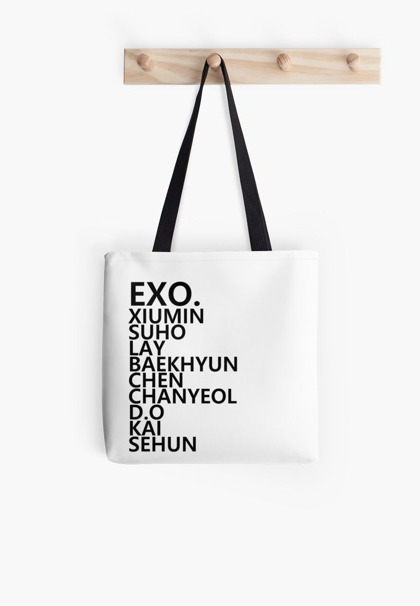 exo kpop Tote Bag by shannonpaints